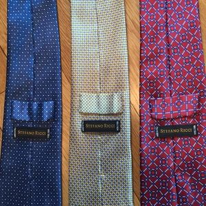 3 Stefano Ricci silk ties -made in Italy - luxury!